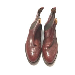 Hermes Mens Chelsea Wingtip Ankle Boots Size 40